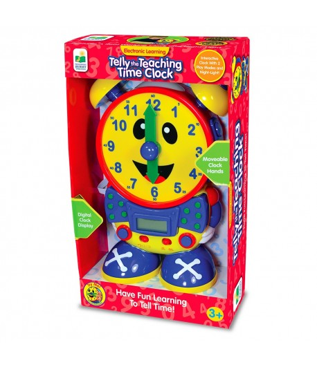Telly The Teaching Time Clock (PRIMARY COLOR DESIGN)