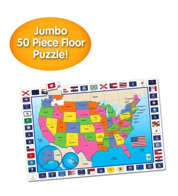 Jumbo Floor Puzzles  - USA Map