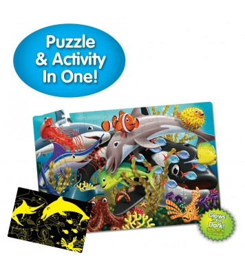 Puzzle Doubles - Glow In The Dark - Sea Life
