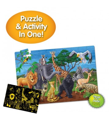 Puzzle Doubles - Glow In The Dark - Wildlife