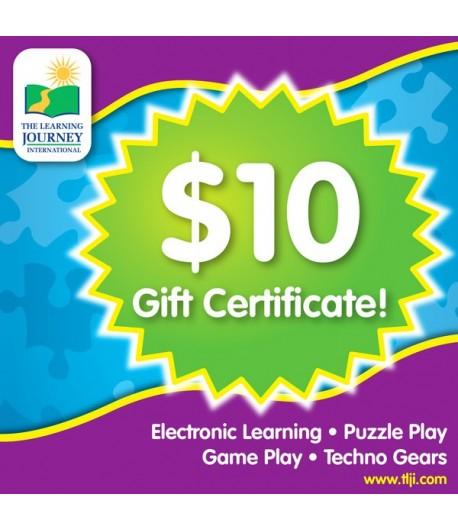 10 TLJI Gift Certificate