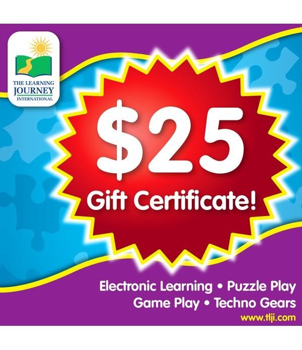 25 TLJI Gift Certificate