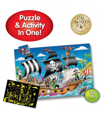 Puzzle Doubles! Glow in the Dark! Pirate Ship