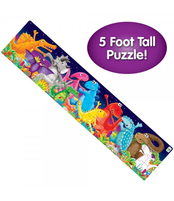 Long & Tall Puzzles - Color Dancing Dino's