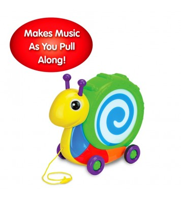 Pull Along Snail Drum