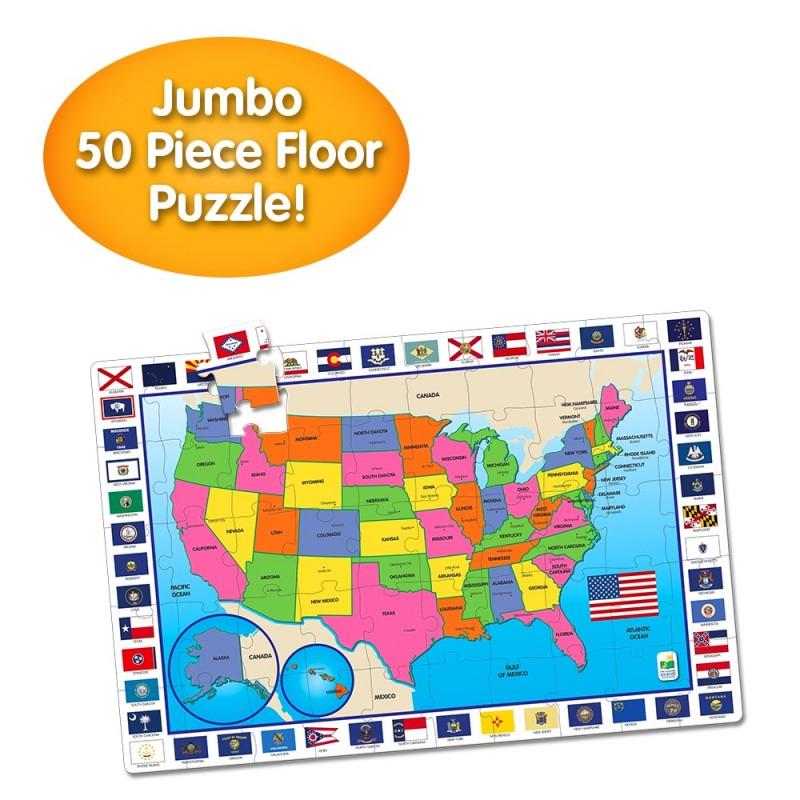 Jumbo Floor Puzzles  - USA Map