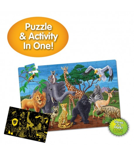 Puzzle Doubles! Glow In The Dark! Wildlife