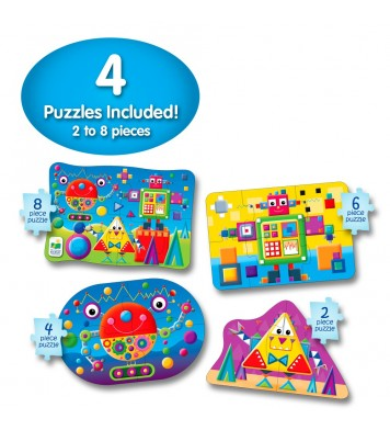 My First Puzzle Sets 4-In-A-Box Puzzle-Shapes