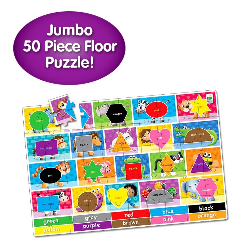 Jumbo Floor Puzzles  - Colors and Shapes