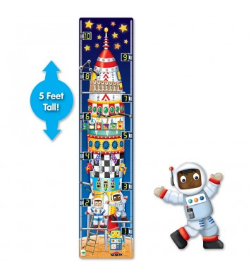 Long & Tall Puzzle - 123 Rocket Ship
