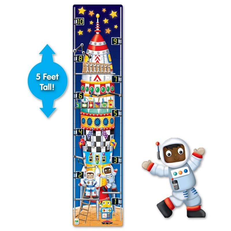 Long & Tall Puzzle - 123 Rocket Ship