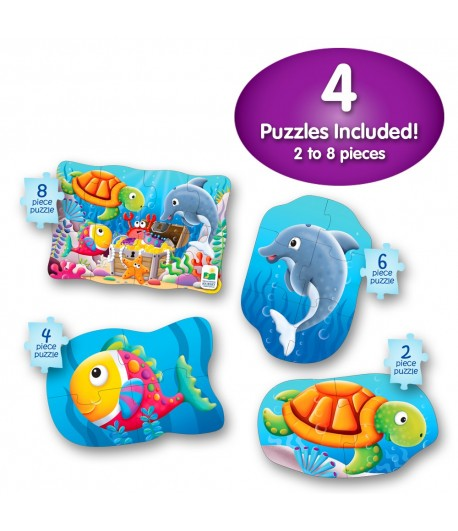 My First Puzzle Sets 4-In-A-Box Puzzles Ocean