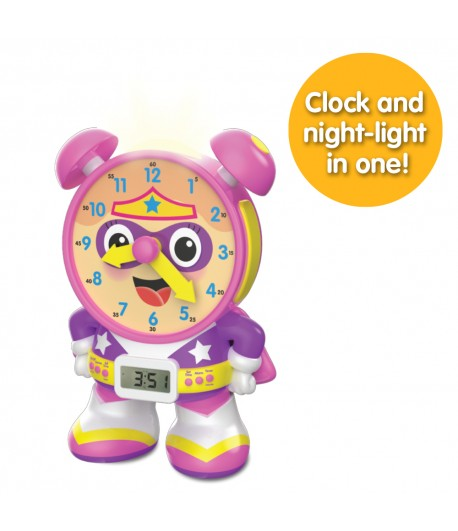 Super Telly Teaching Time Clock (Pink Version)