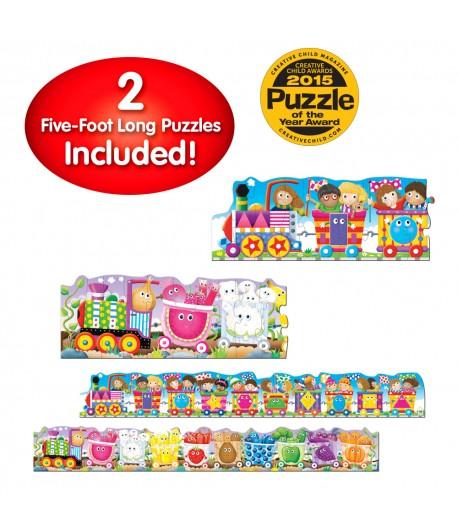 Puzzle Doubles! Giant Colors & Shapes Train Floor Puzzles