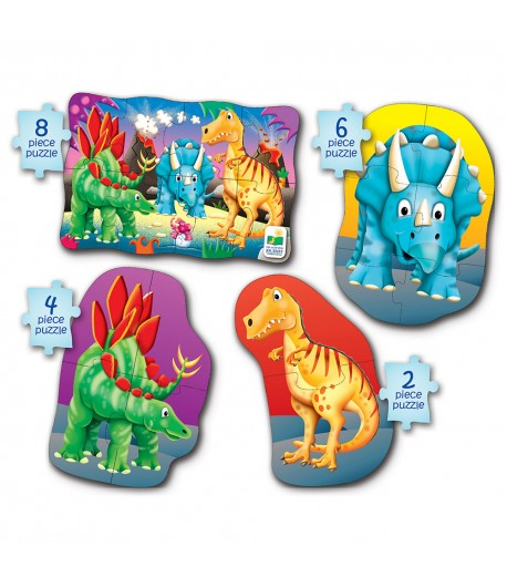 My First Puzzle Sets 4-In-A-Box Puzzles Dino