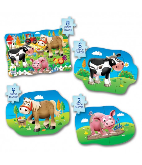 My First Puzzle Sets 4-In-A-Box Puzzles Farm