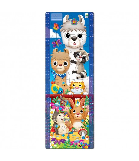 Long & Tall Puzzles Animal Friends Growth Chart