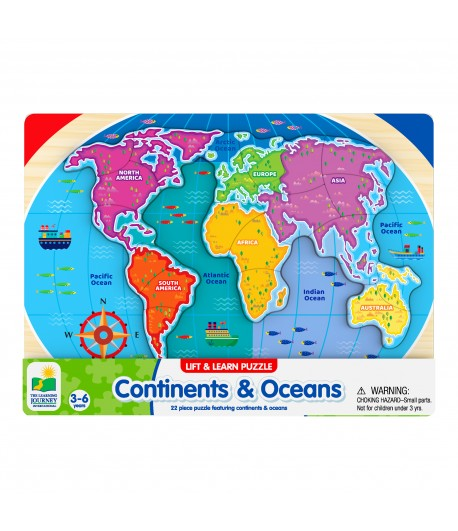 Lift & Learn Continents & Oceans
